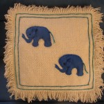 Rustic Style Elephant Cushion